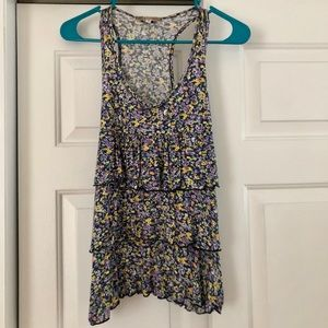 floral tank, fun to wear for summer time